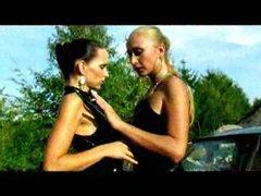 Lesbian babes on a joyride