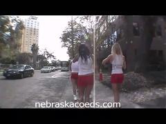 Hawt college babes flashing their bra buddies