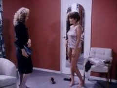 Women with hawt natural mangos fool around in retro episode