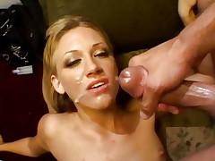 Tina Fine receives her face sprayed with hot ramrod juice