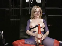Nina Hartley loves tormenting her moist wet slot