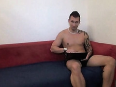 Man sits and stares at his girlfriend getting fucked hard