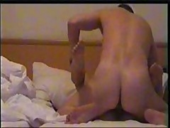 Worthy girl's skillful mouth works on her lover's beefy pecker, licking and sucking it very keenly and gets fucked ardently.