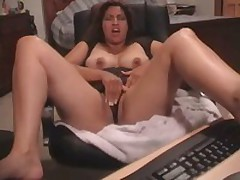 Latin babe gets her snatch drilled and stroked by her beloved toy. That babe started with tender touches and finishes with pounding.