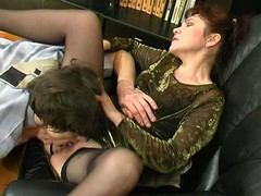 Experienced aged playgirl getting her mellow snatch licked and drilled hard