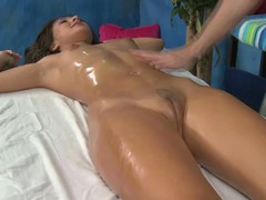Sexy and hawt 18 year old AJ gets fucked hard by her massage therapist