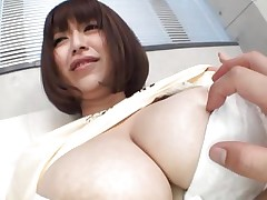 She's nice-looking busty and loves giving her large boobs for a good suck. Marie loves the attention this babe receives and this babe deserves a lot greater amount then some teat sucking. Watch 'em and as things acquire hotter. Maybe this Japanese bitch will end up with ball cream all over her titties