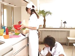 Eighteen yo Japanese sweetheart Asuka does her job in the kitchen when this chap starts playing with her cunt. That playgirl tries to ignore him and continues cooking but that fake penis that guy uses makes things very difficult for the gorgeous asian girl. What do u think, is this playgirl good at fucking as this playgirl is at cooking?