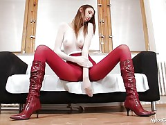 Pamela is overspread in nylon and her long sexy legs, long hair, sexually concupiscent face and hot ass makes us wonder if this slut will masturbate in front of us, giving us a very wonderful show. That playgirl is a tall playgirl and has a lot to offer, stick around there more to be seen.