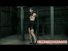 Slave Elise Graves handcuffed whipped electro tormented and impaled