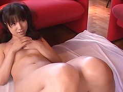 Breasty Oriental charms a palpitating pecker with moist engulfing