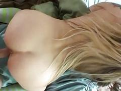 Bootylicious blonde in socks acquires nailed doggy style