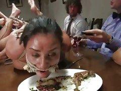 Abased Charley Pursue eats like a dog